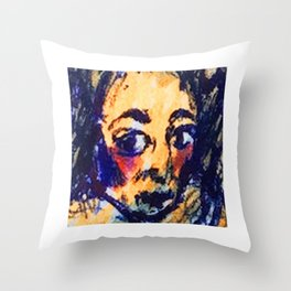 Red Cheeks Woman Throw Pillow
