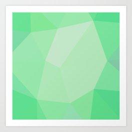 Smaragd polygonal pattern Art Print