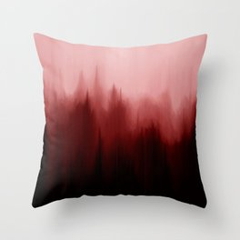 Blood Pines Throw Pillow
