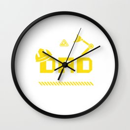 Dad Birthday Crew Construction Worker Theme Party Wall Clock