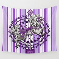 pony Wall Tapestries featuring Pony Purple by The Victorian Fantasy