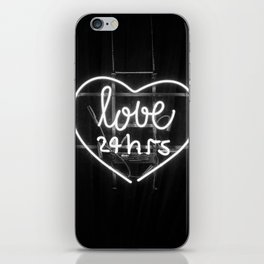 Love 24 Hours (Black and White) iPhone Skin