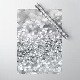 Silver Gray Lady Glitter #1 #shiny #decor #art #society6 Wrapping Paper