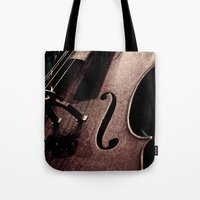 cello Tote Bags featuring Cello by Sergio Bastidas