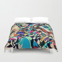 harley Duvet Covers featuring Harley by Glanoramay