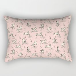 Little Sheep on the pink meadow Rectangular Pillow