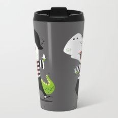 T-Rex Mime Metal Travel Mug