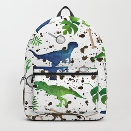 Watercolor Dinosaurs Backpack