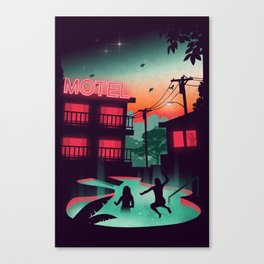 Night Swim Canvas Print