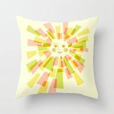 Sunburst Warm Throw Pillow