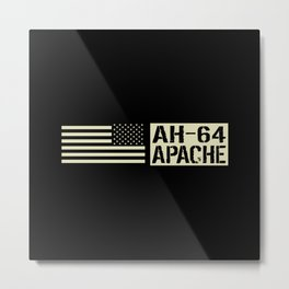 AH-64 Apache Helicopter Metal Print