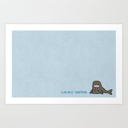 Walrus Sighting Art Print