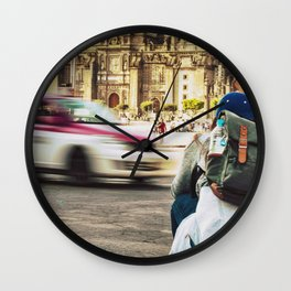 Mexico in spring Wall Clock