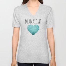 Mermaid At Heart  |  Teal Unisex V-Neck