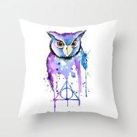 hedwig Throw Pillows featuring Hedwig by Simona Borstnar