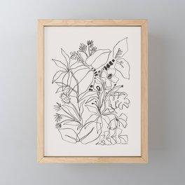 Charcoal Tropics Framed Mini Art Print