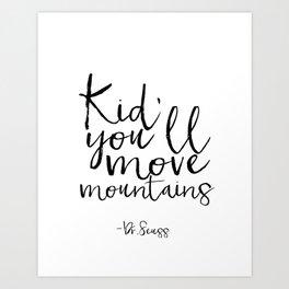 Children Poster Nursery Decor Nursery Wall Art Dr Seuss Quote Printable Art Gift Dr Seuss Quote Kids Art Print