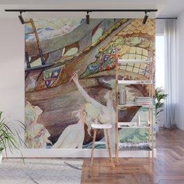 """""""Little Mermaid Sisters"""" by Anne Anderson Wall Mural"""