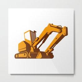 bulldozer front retro Metal Print
