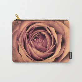 Vintage Rose,peach Carry-All Pouch