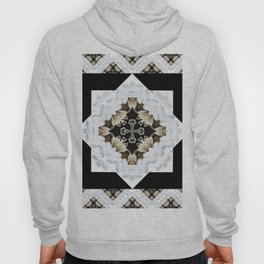 diamond cross pattern with borders Hoody