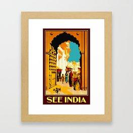 See India - Vintage Travel Framed Art Print