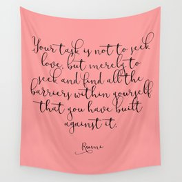 Love by Rumi Wall Tapestry