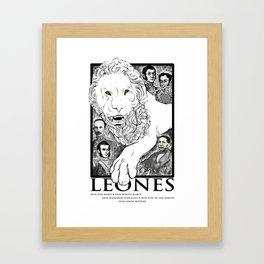 Leones of Latin American Culture Framed Art Print