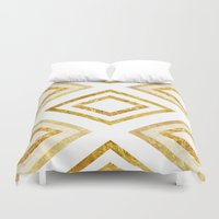 rush Duvet Covers featuring Gold Rush by TT Smith