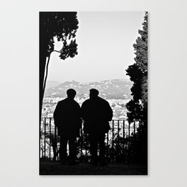 due signori b&w Canvas Print