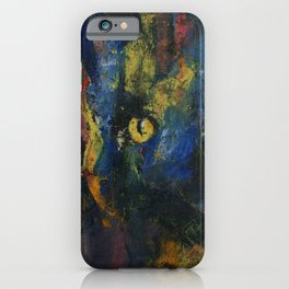 Blue Cat iPhone Case