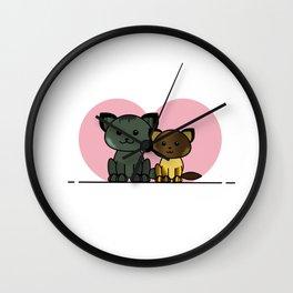 Meet My Cats - Illustration Wall Clock