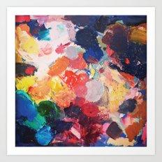 Paint Palette Art Print