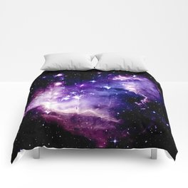 Galaxy .  Deep Purple & Blue Comforters