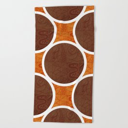 Chocolate Orange Beach Towel