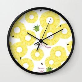 pineapple cocktel Wall Clock