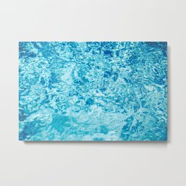 Crystal blue water creating an abstract pattern with waves and ripples Metal Print