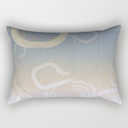 Modern Grunge Ombre Rectangular Pillow