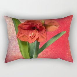 Red Amaryllis Rectangular Pillow