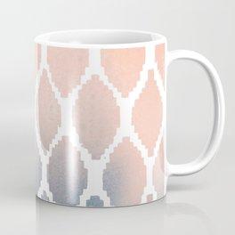 Navy and Peach Ikat Coffee Mug