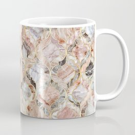 Rosy Marble Moroccan Tile Pattern Coffee Mug