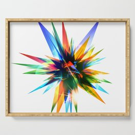 Colorful abstract star Serving Tray