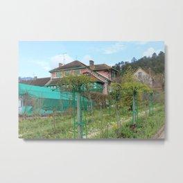 Monet House Metal Print
