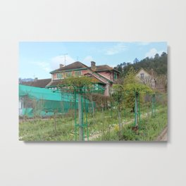 Monet House Metal Print