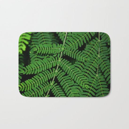 Green Ferns Bath Mat