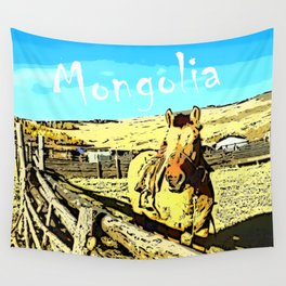 Mongolia Horse Treks (at Mountain Rubia) Wall Tapestry