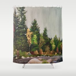 Upstate New York Gorges Shower Curtain