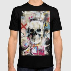 Skull LARGE Black Mens Fitted Tee