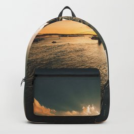 nyc skyline at dusk Backpack