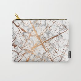 Marble Texture and Gold Splatter 039 Carry-All Pouch